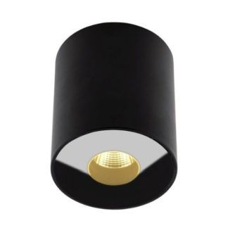 Czarny spot sufitowy Plasma - IP54, LED
