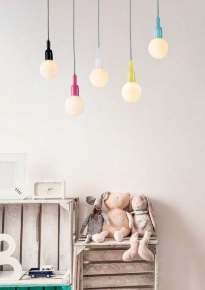 kolorowe lampy wiszące do pokoju dziecka
