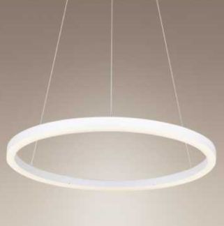 Nowoczesna lampa wisząca Angel - biała, LED