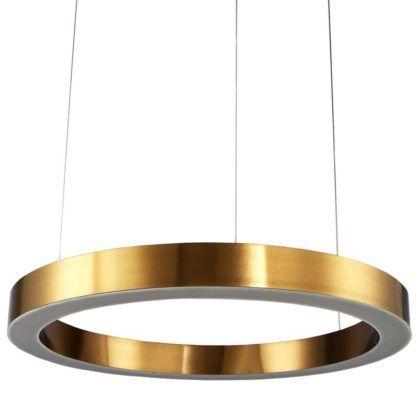 złota lampa wisząca led ring