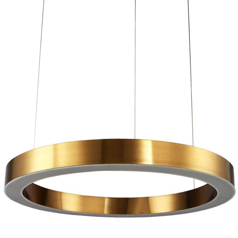 lampy wiszące ringi w salonie aranżacja