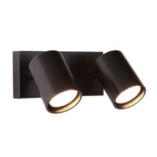 Czarny kinkiet Top - dwa reflektory