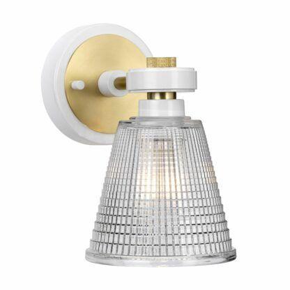 biało-złoty kinkiet do łazienki