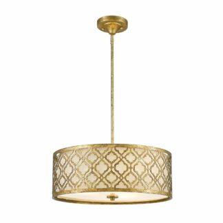 Złota lampa wisząca Arabella  - duży klosz