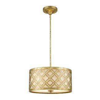 Elegancka lampa wisząca Arabella - złoty klosz