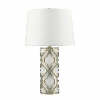 Lampa stołowa Arabella - srebrna podstawa