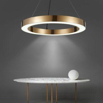 Lampa wisząca Circle - LED, złota, 100cm