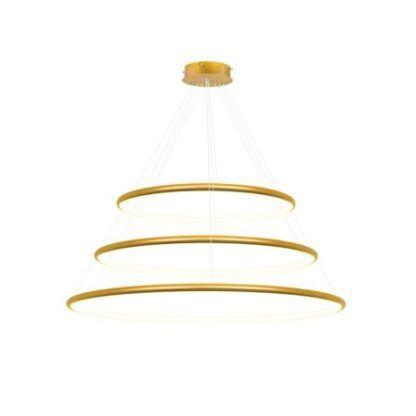 złote ringi led lampa wisząca