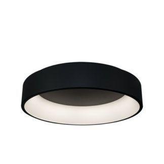 Czarna lampa sufitowa Vogue - LED, 3 barwy światła