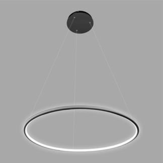 Czarna lampa wisząca Shape - LED, 3000K, 150cm, IP44