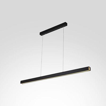 Lampa wisząca Linea No.4 - LED, 4000K, czarna,120cm