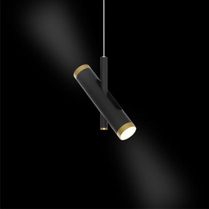 czarna lampa wisząca z regulacją