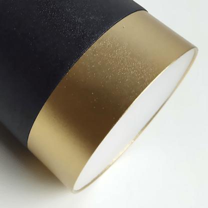 nowoczesna lampa wisząca złoto-czerń
