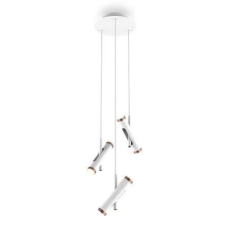 Lampa wisząca Lunette No.3 - biała, LED