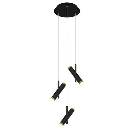 Lampa wisząca Lunette No.3 - czarna, LED