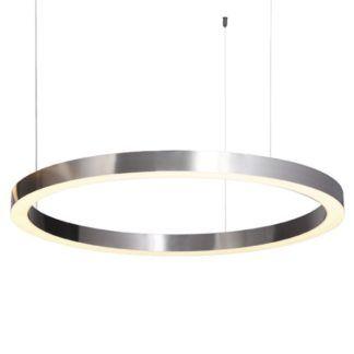 Lampa wisząca Circle - LED, srebrna, 80cm