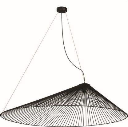 duża lampa wisząca asymetryczna druciana