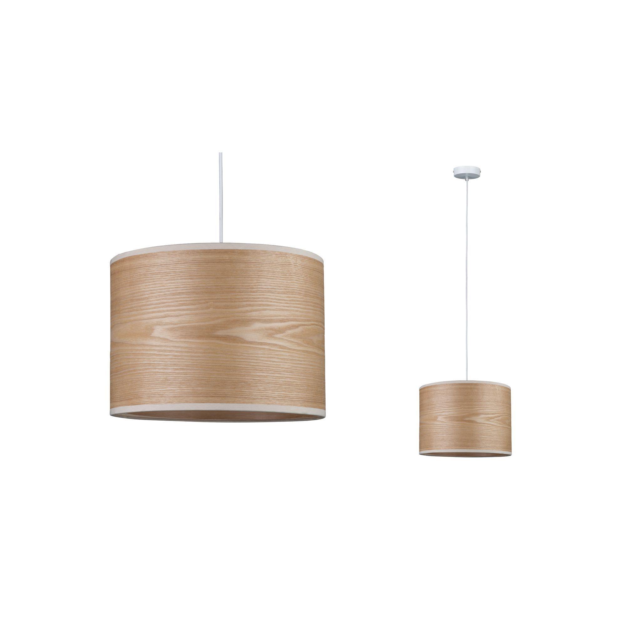 Lampa wisząca Neordic Neta - drewniany klosz