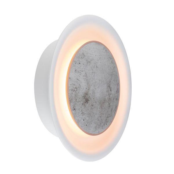 Kinkiet Neordic Tiril - LED, biały, betonowy