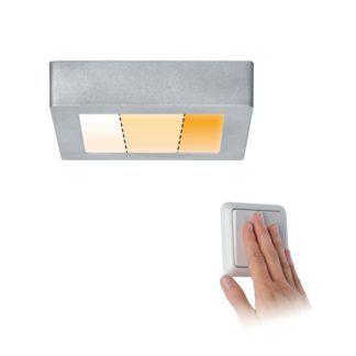 Srebrny plafon Carpo XS - LED, światło ciepłe/ neutralne