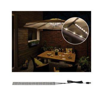 Strip Parasol-Light - oświetlenie parasola ogrodowego, 4 szt. 4x40cm