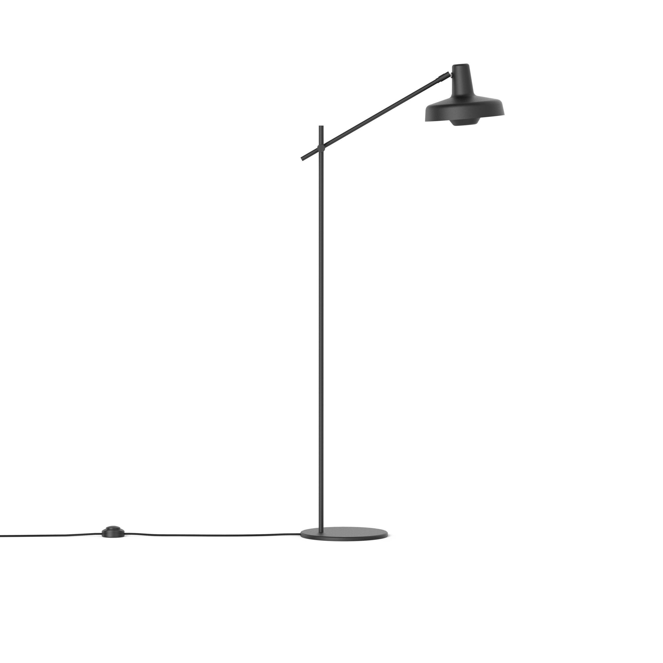 Lampa podłogowa Arigato Palace - czarna, nowoczesna