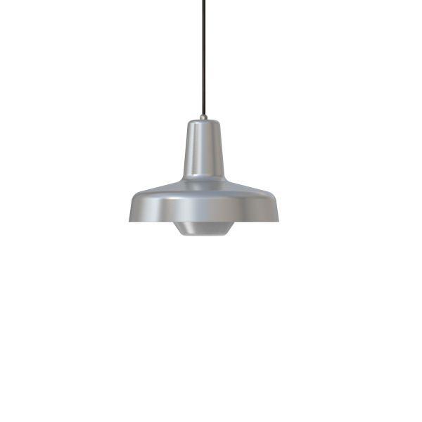 srebrna lampa wisząca stalowa