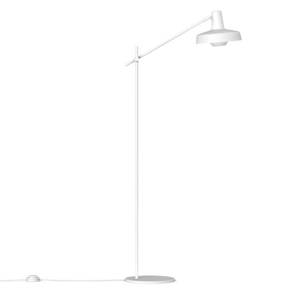 Lampa podłogowa Arigato Palace - metalowa, biała