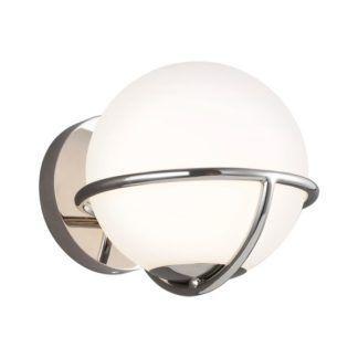 Srebrny kinkiet Apollo - szklana kula