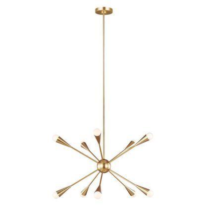złoty żyrandol sputnik