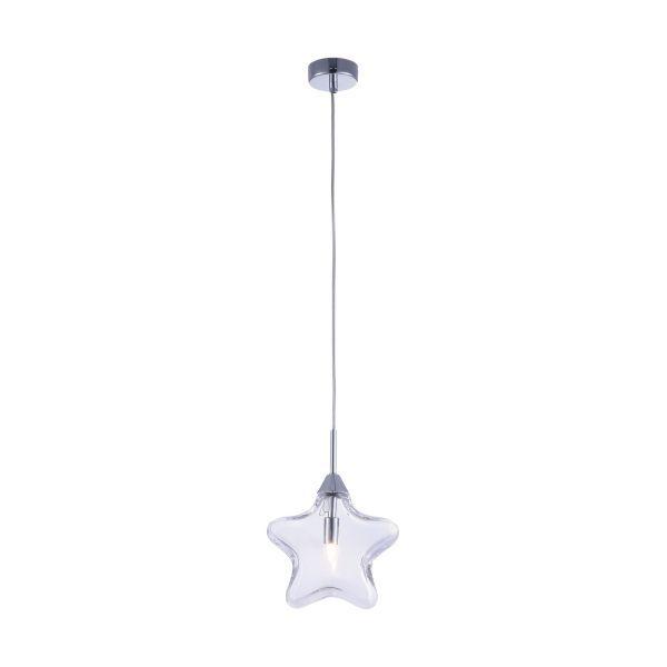 lampa wisząca do pokoju dziecka, szklane gwiazdki - aranżacja
