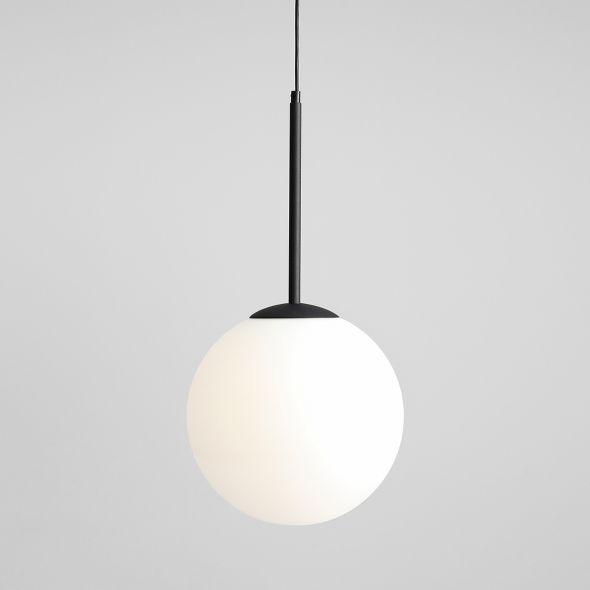 Lampa wisząca Balia - czarna, szklany klosz