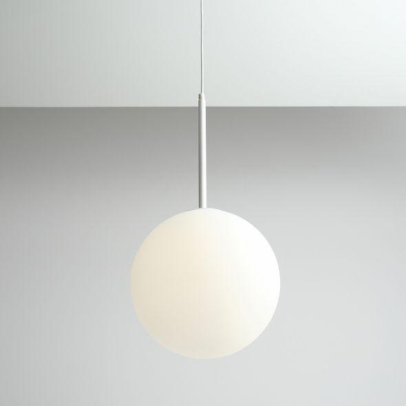 Lampa wisząca Balia - biała, szklana