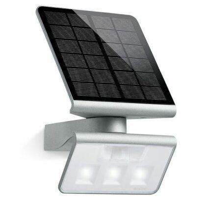 Kinkiet XSolar L-S  S - solarny, srebrny, czujnik ruchu