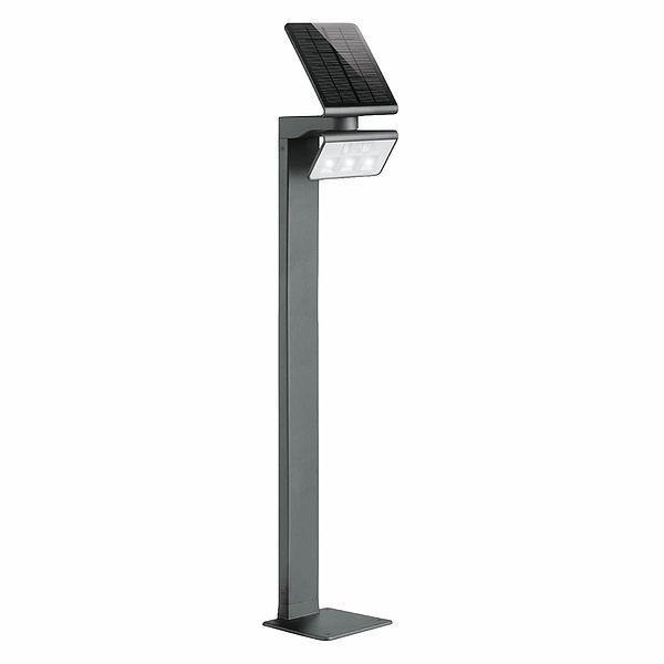 Lampa solarna XSolar GL-S - 4000K, czujnik ruchu, antracyt