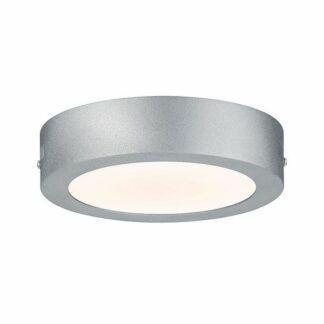 Okrągły plafon/kinkiet Lunar - srebrny, LED