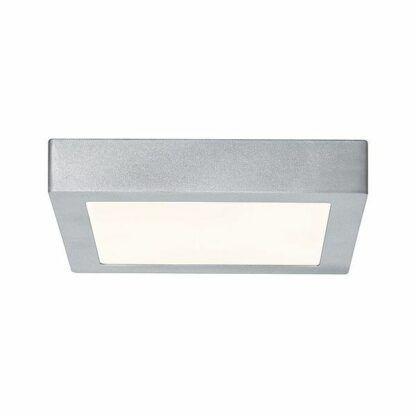 srebrny plafon led kwadratowy
