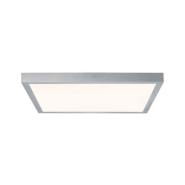 kwadratowy plafon led srebrny chrom