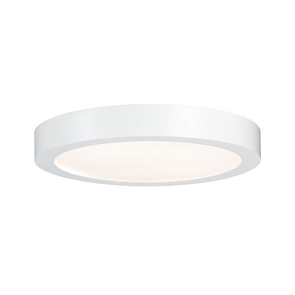 Biały plafon Lunar - LED, 30cm, okrągły