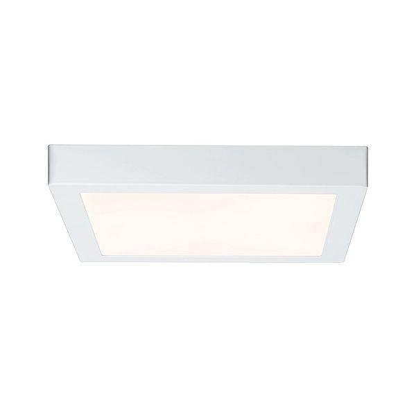 Kwadratowy plafon Lunar - biały, LED, 30cm