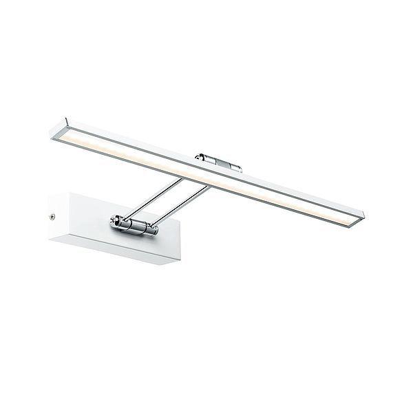 Ledowy kinkiet Beam Fifty - nowoczesny, biało-srebrny