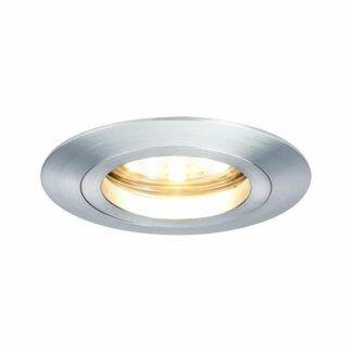 Oczko sufitowe Coin - srebrne, LED, IP44, zestaw 3szt.