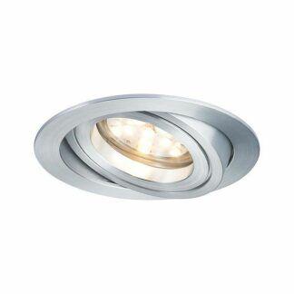 Srebrne oczka sufitowe Coin Slim - 3 szt, zestaw, LED