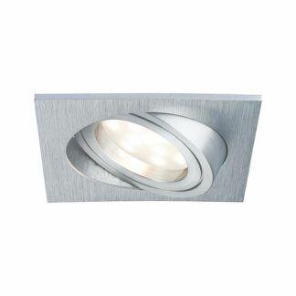 Oczko podtynkowe Coin - srebrne, LED, zestaw 3 szt