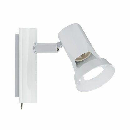 biały kinkiet z włącznikiem