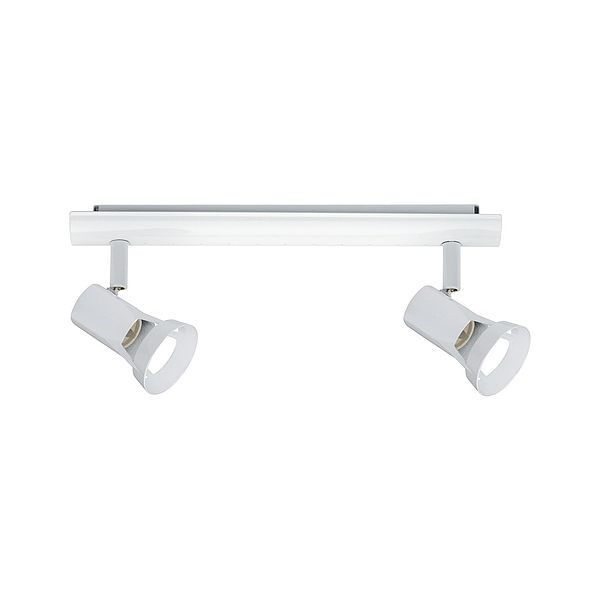 biała lampa sufitowa metalowa
