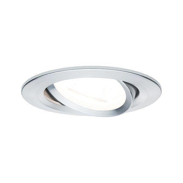 Oczko sufitowe Premium Nova - srebrne, GU10, 3szt zestaw