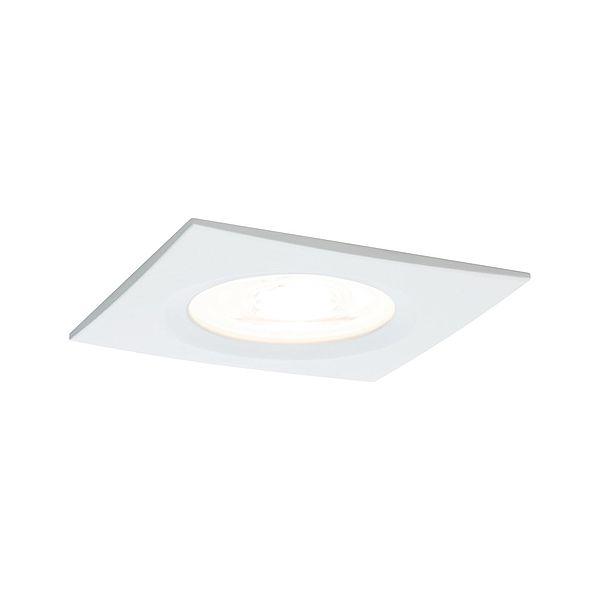Białe oczko sufitowe Nova - GU10, ściemnialne, IP44