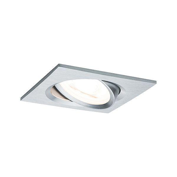 Kwadratowe oczko sufitowe Nova - IP23, ściemnialne