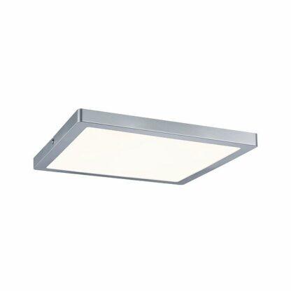 Kwadratowy plafon Atria - LED, srebrny, 30cm